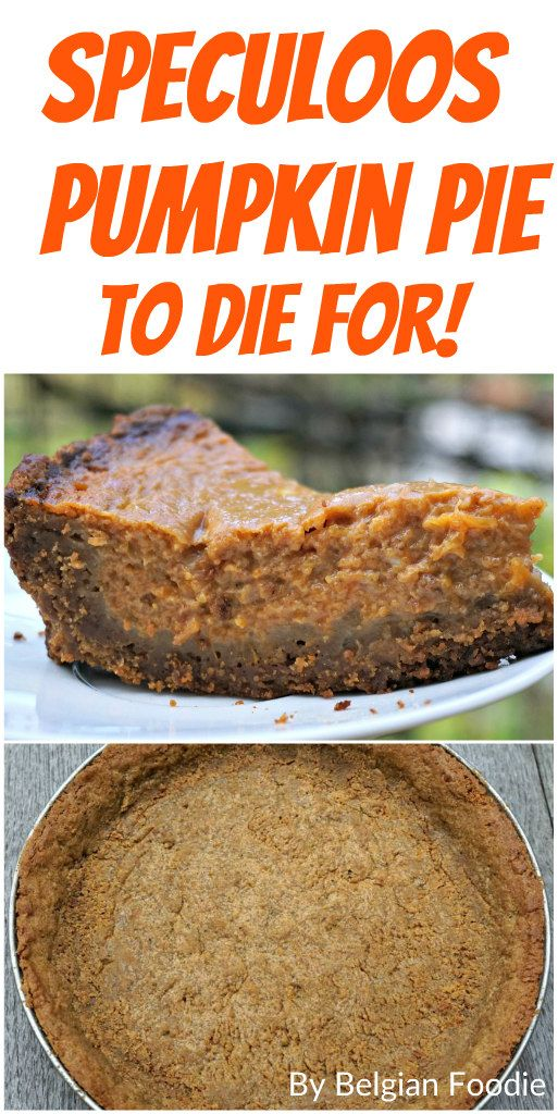 Try this Speculoos Pumpkin Pie!  It is to die for!  Your guests at Thanksgiving will be asking for more!
