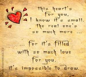 Tiny heart and touching love words written on a parchment.: Single Heart, Valentines Quotes, Heart Full, Greeting Cards, Heart Touch Love Quotes, Heart Quotes, To Drawings, Tiny Heart, Heavy Heart