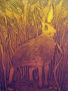 Hester Cox is a UK artist/printmaker #rabbit #bunny