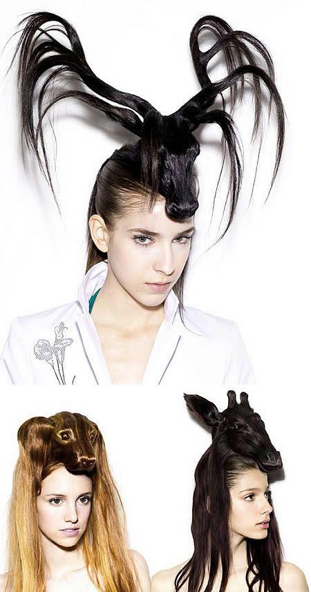 15 Craziest Hairstyles - Oddee.com (weird haircuts, strange hairdo)