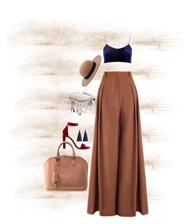 """Camel"" by raiynel on Polyvore featuring Zimmermann, Forever 21, Yves Saint Laurent, Louis Vuitton and Boohoo"