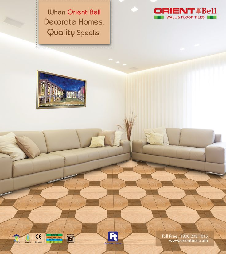 Living Room Tiles When Orient Bell Decorate Homes Quality Speaks