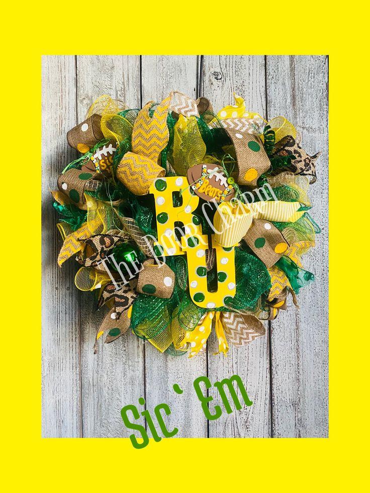 Baylor Bears Wreath, Baylor wreath, Sic Em Bears, Baylor
