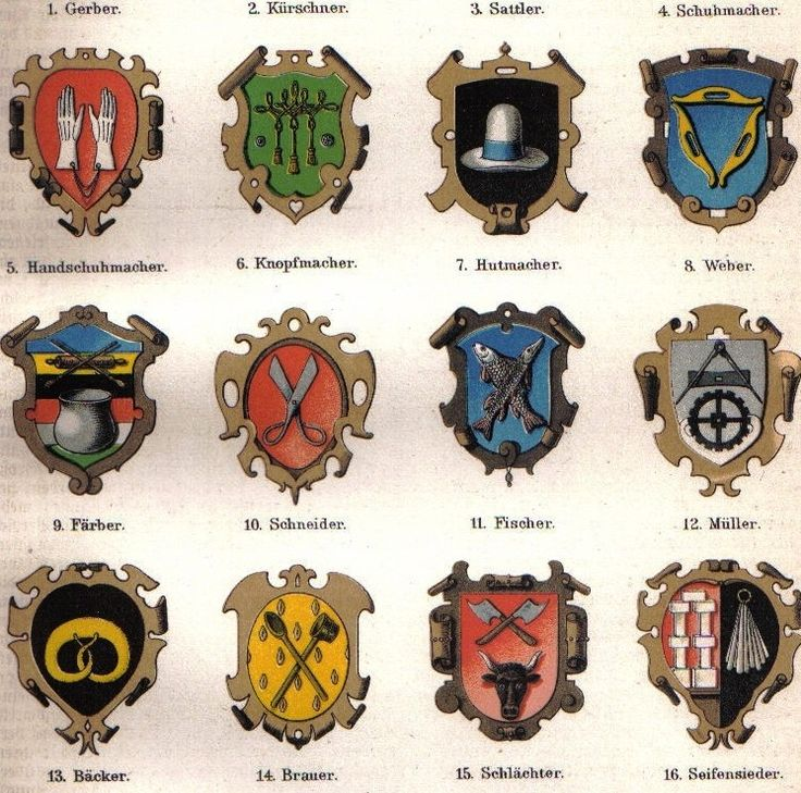 Medieval Guild Signs Coat of Arms Guilds | ...