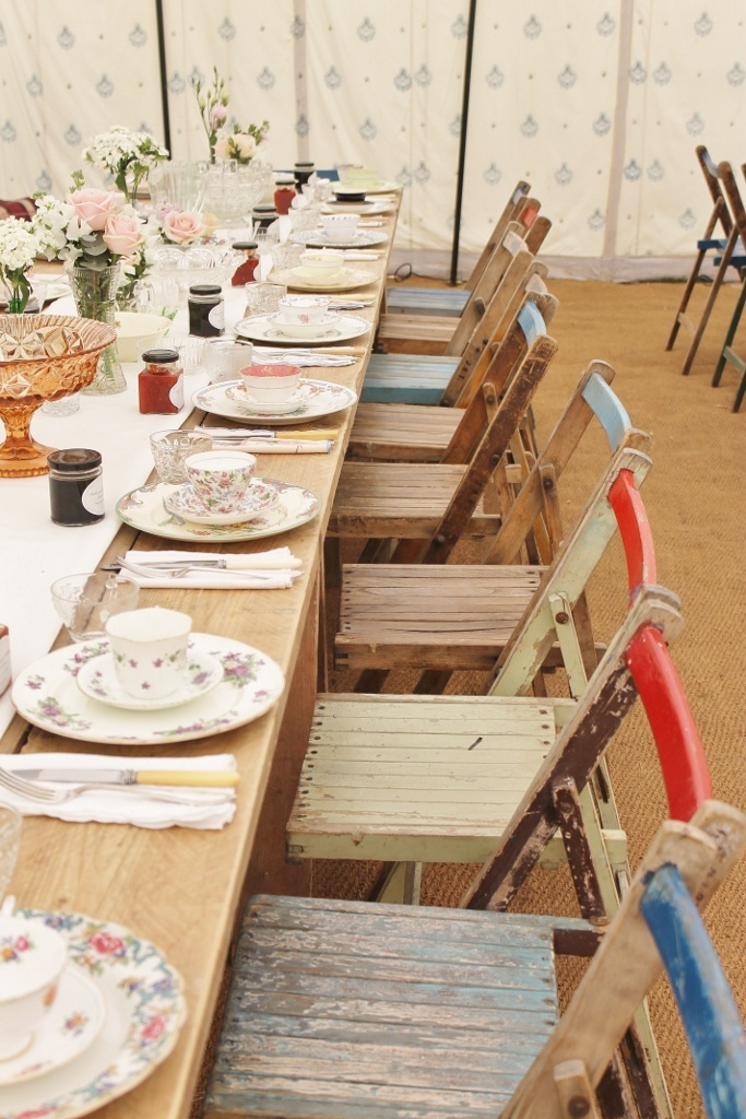 Vintage Table - festival wedding - Tables and chairs - Virginias vintage hire…
