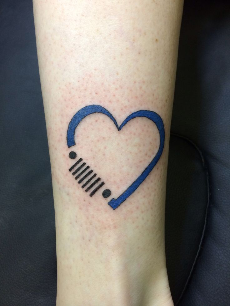 This  with a red heart and on my back.