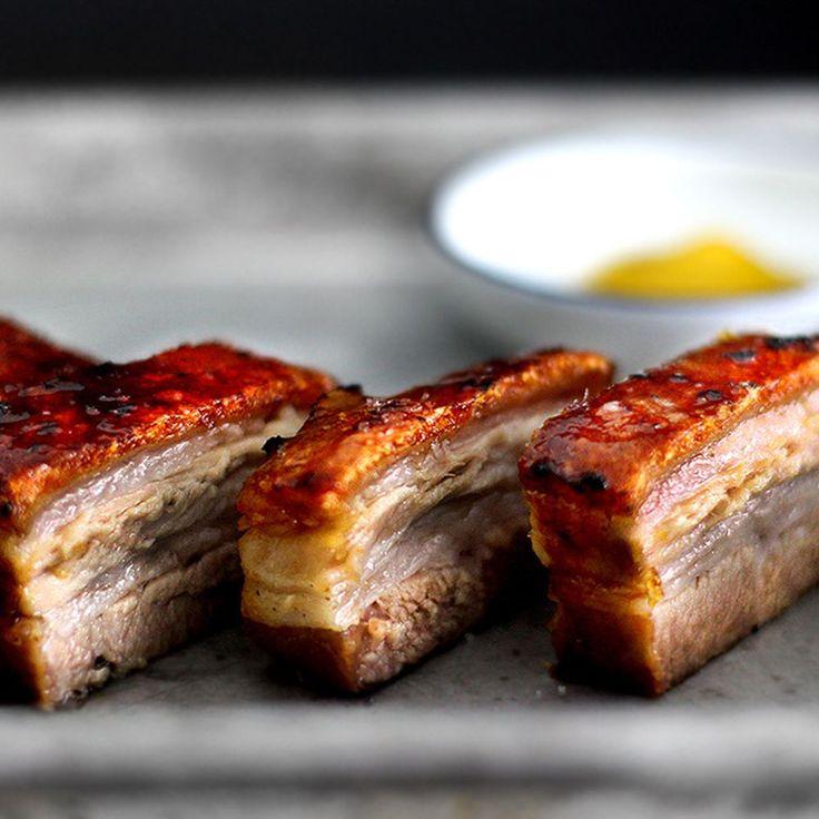 creme brulee pork belly confit recipe on Food52