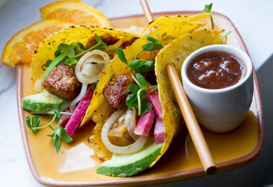 Tempeh Taco with Pickled Radish Slaw | Veeeeeegan... | Pinterest