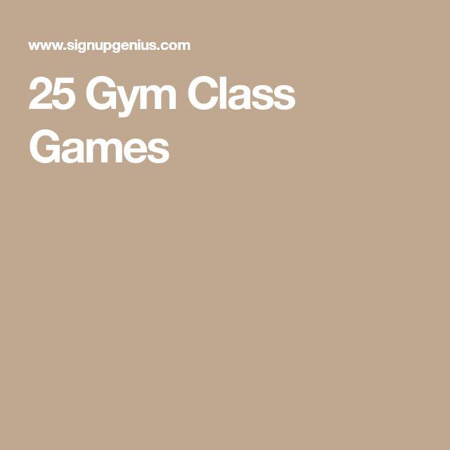 25 Gym Class Games