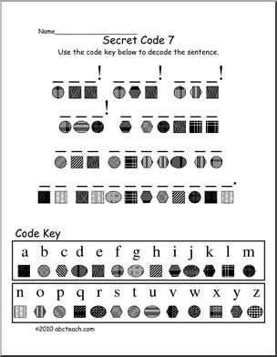 Decoding Secret Code 7 Elem Fun Secret Code Activity