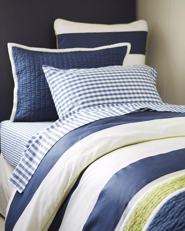 Bedding he'll love over the years | Ronan Duvet Cover & Gingham Sheet Set via Serena & Lily #boysroom