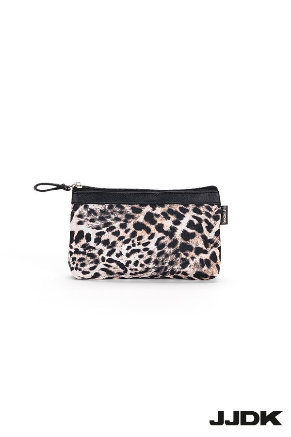 JJDK Panthera small cosmetic purse, leopard pattern