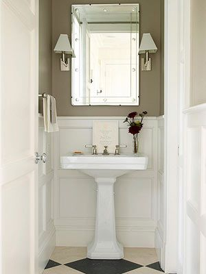 13 best images about bead board wallpaper on pinterest for Beautiful small master bathrooms