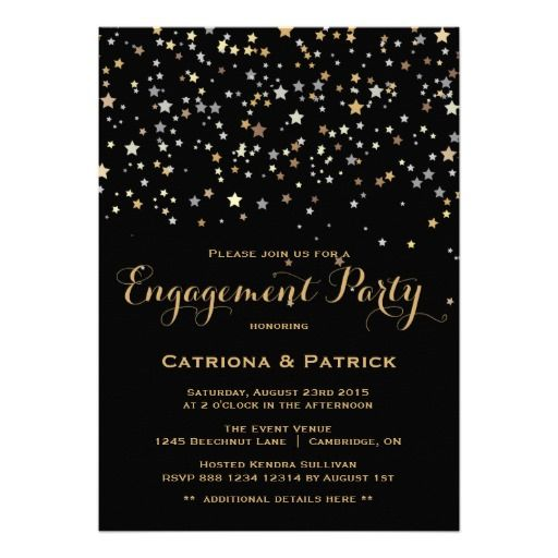 Gold Star Confetti Engagement Party Invitation so please read the important details before your purchasing anyway here is the best buyShopping          	Gold Star Confetti Engagement Party Invitation lowest price Fast Shipping and save your money Now!!...
