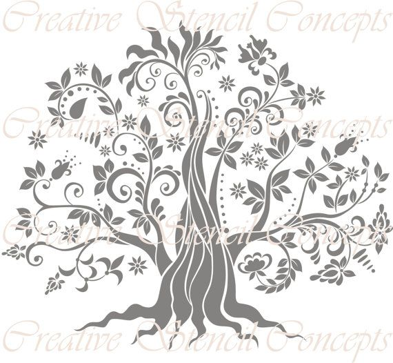 Tree of Life Decorative Stencil MULTIPLE SIZES by CreativeStencils