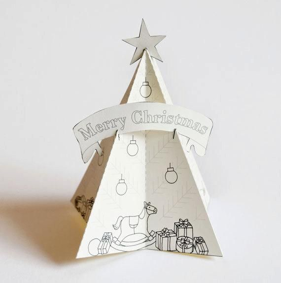 Paper Christmas Tree Decorate The Tree With Your Own Colors Etsy In 2020 Paper Christmas Tree Christmas Tree Decorations Sapin De Noel