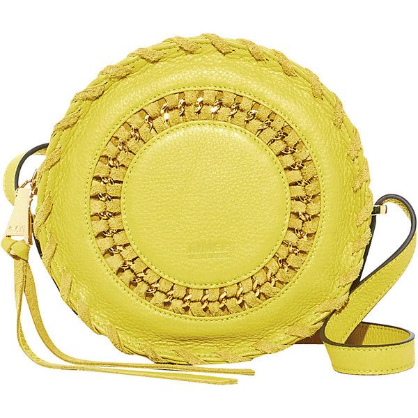 Aimee Kestenberg Harper Crossbody - Blazing Yellow - Crossbody Bags (455 RON) ❤ liked on Polyvore featuring bags, handbags, shoulder bags, yellow, crossbody purses, crossbody shoulder bag, yellow crossbody, crossbody chain purse and cross body
