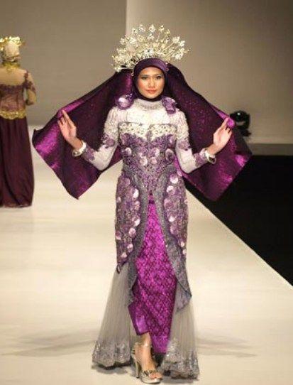 tampilan kebaya hijab cantik untul pengantin