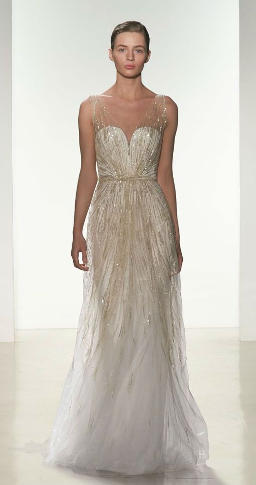 17 Best ideas about Beaded Wedding Gowns on Pinterest | Beaded ...