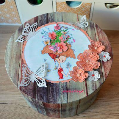 AnuScrap: Caja decorada para guardar un Sombrero