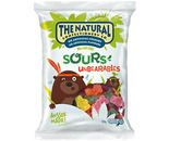 A bulk box of 12 bags of The Natural Confectionery Company Unbearables Sour lollies.