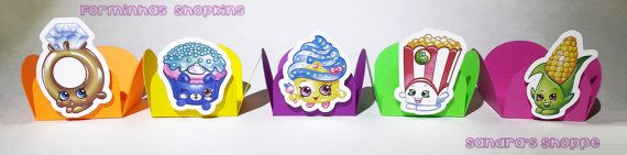 48 Shopkins Forminhas para Brigadeiro Shopkins treat holder