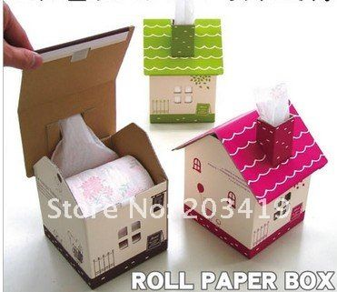 Fun life Creative Table house shaped standing Tissue Boxes Holder Paper Pot cases Container  bucket Bins DIY CN post $10.94