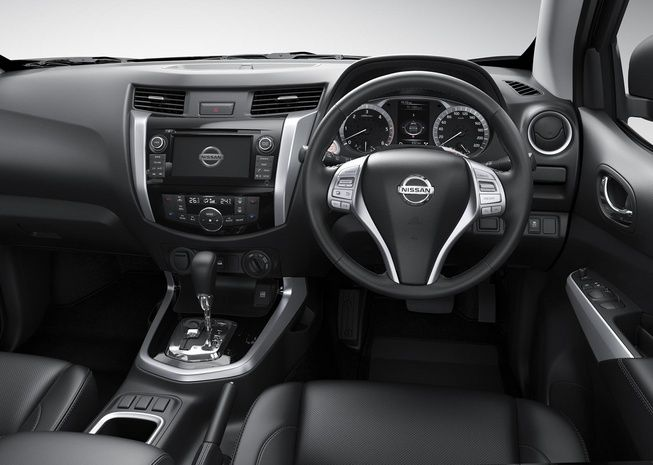 Nice interior view of #Nissan #Navara #PickupTruck 2015 steering. New Model Nissan Navara NP300 Bangkok, Thailand available for export at Jim Autos Thailand http://toyota-dealer.org/2015-nissan-navara-np300.html