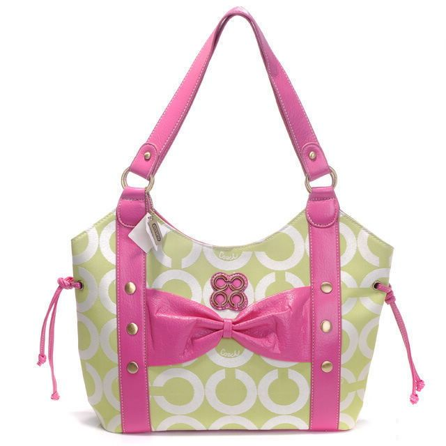 Bolsos De Trapillo: Coach Pink Green Purse
