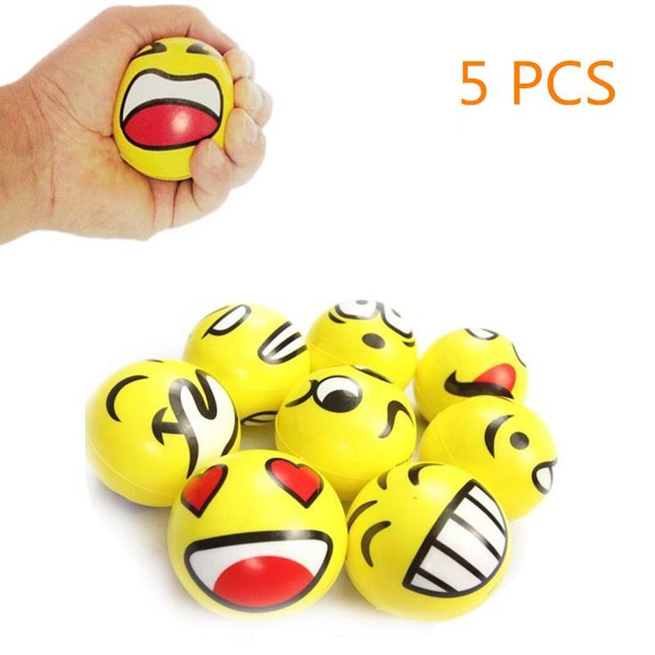 Kids Toys Smiley Ball Smiley Stress Ball Smiley Squeeze Ball Anti Stress Reliever Autism Squeeze Toys for Children Random Hand