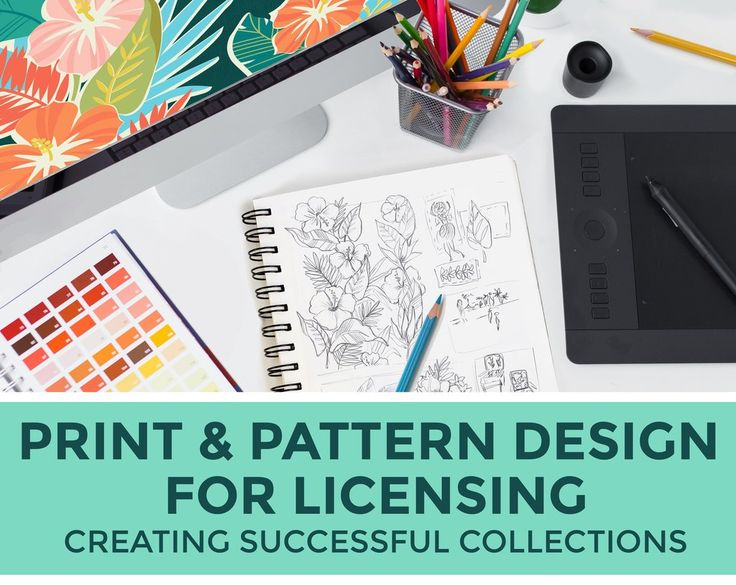 Print & Pattern Design for Licensing:  New Art Course by Elizabeth Silver