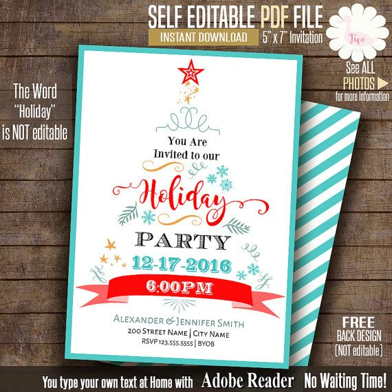 The 25+ Best Holiday Party Invitation Template Ideas On Pinterest   Free  Holiday Flyer Templates  Free Printable Flyer Templates Word
