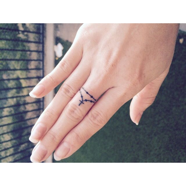 1000 ideas about rosary tattoos on pinterest tattoos for Cross tattoos on finger