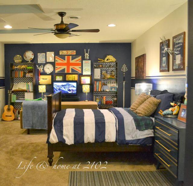 Bed For Small Bedroom Bedroom Accent Wall Ideas Little Boy Bedroom Bedroom Ideas Rectangular Rooms: TWEEN BOY BEDROOM UPDATE REVEAL