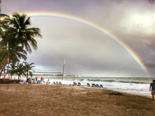 Would you like to breakfast under this rainbow at Cabarete Beach, and open your day to infinite possiblities? um-humm?.....now easier than ever: http://www.our-dominican-republic.com/vecinos_for_sale.html photo credit to awesome expat here, Kathy Pow - Thx luv!