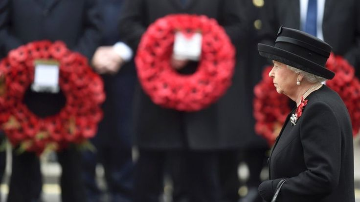 VIDEO - The Queen is joined by veterans and politicians to pay tribute to the UK's war dead on Remembrance Sunday.