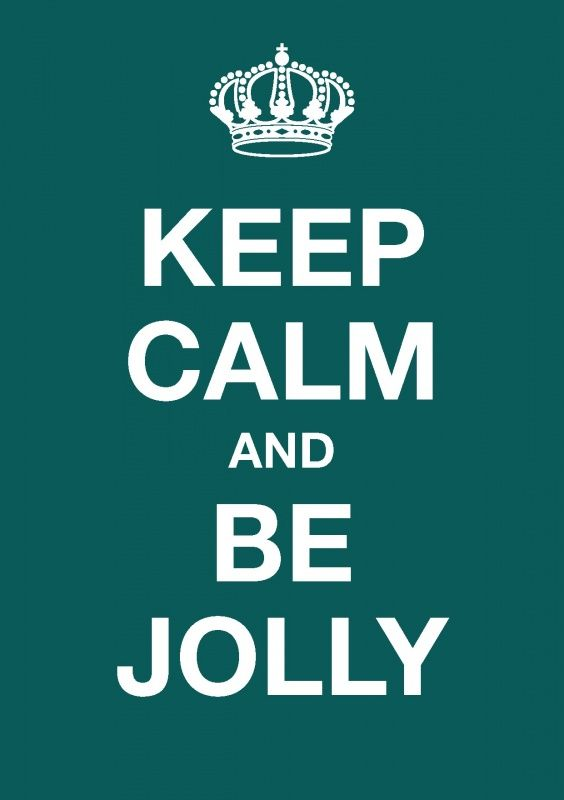 Kerst - ansichtkaart - Keep calm and be jolly KC040