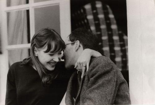 Anna Karina and Jean - Luc Godard