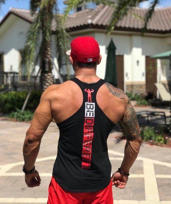 MEN MMA GYM BODYBUILDING MOTIVATION STRINGER VEST WORKOUT CLOTHING TRAINING TOP