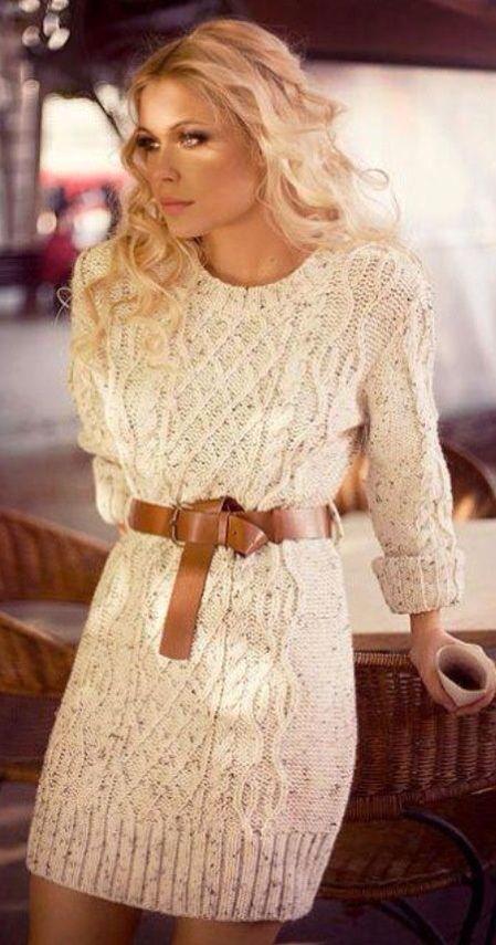 I kind of really want a knit dress like this