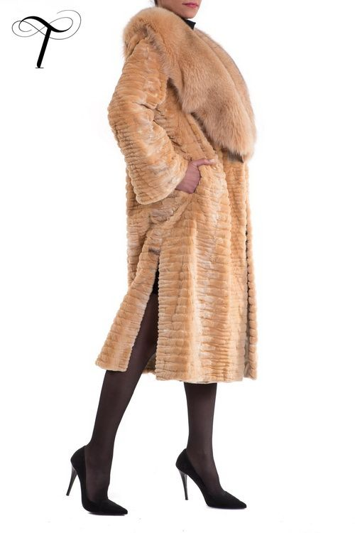 FOX TRIM LASER CUT SHEARED MINK APRICOT LONG COAT  Tailored by Toutountzis Furs, this apricot #minkcoat combines #classicdesign with #innovativetechniques to offer you a timeless sophisticated option for your wardrobe. Cut in a straight line with side vents and a swing back, it has a plush shawl #foxfur  collar and it is crafted from laser cut #shearedmink sections #fur. Complete with concealed hook and eye fastenings and satin lining, the coat is an ideal finish to your appearance day or…