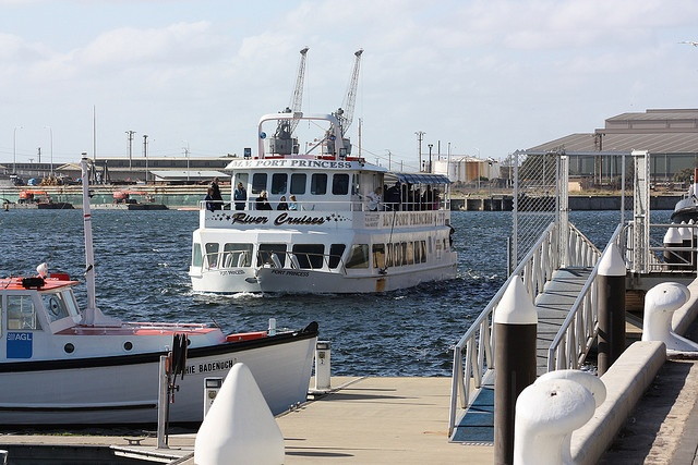 From Port Adelaide. Sightseeing down the Port River. A chance to see dolphins on the Dolphin Explorer.