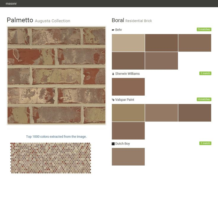 palmetto augusta collection residential brick boral on valspar 2021 paint colors id=50277