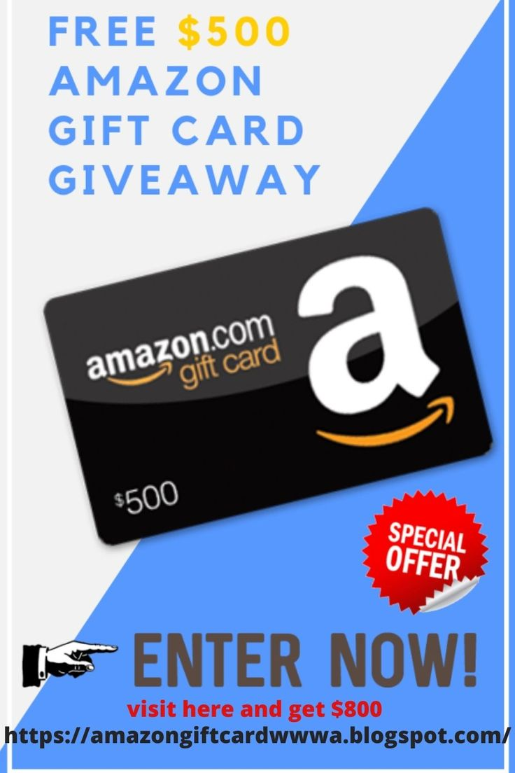 Get 500 amazon gift card free in 2021 amazon gift card