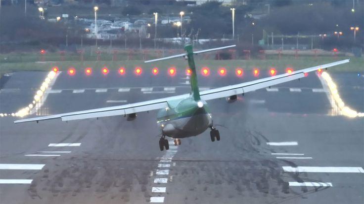 Aterrizajes De Aviones Con Terribles Ráfagas De Viento Que Ponen Los Pelos De Punta