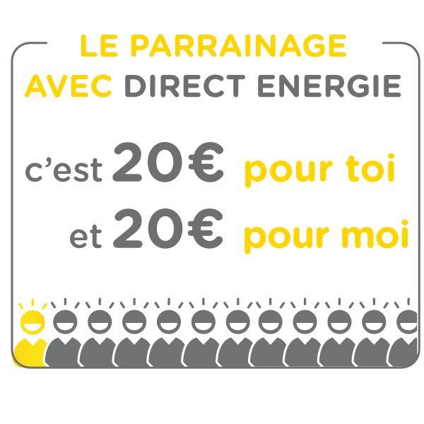 Je te fais gagner 20€ offerts chez Direct Energie !!