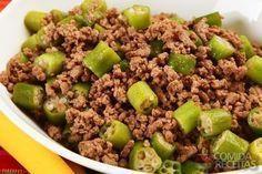 Receita de Carne moída com quiabo especial em receitas de carnes, veja essa e outras receitas aqui!