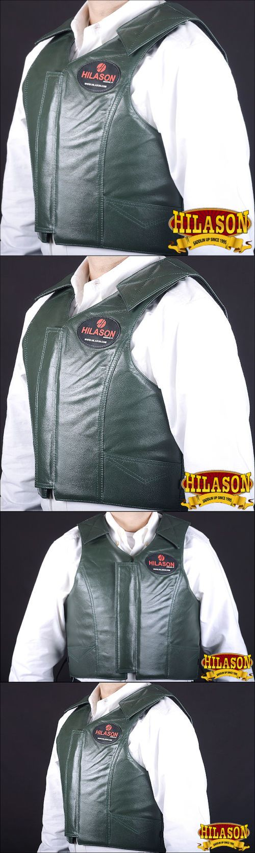 Other Protective Gear 87446: Pv801-F Hilason Leather Bareback Pro Rodeo Horse Riding Protective Vest - Medium -> BUY IT NOW ONLY: $164.99 on eBay!