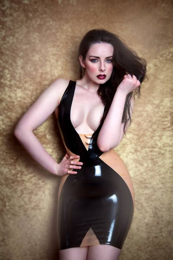 Latex 'Alana' dress by kaorislatexdreams. Explore more products on http://kaorislatexdreams.etsy.com