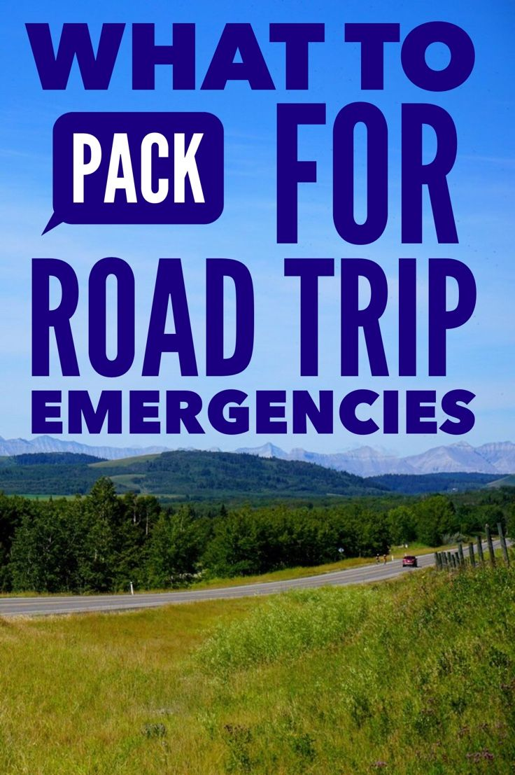 Packing for road trip emergencies. What road trip essentials to bring along for…